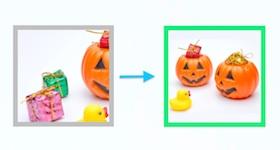 切り取られて表示された画像とちゃんと表示された画像
